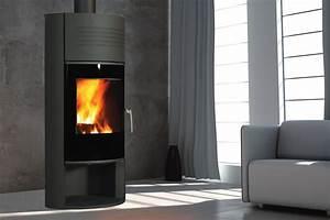 Cheminée à Bois : poele a bois ilam noir cheminee ~ Premium-room.com Idées de Décoration