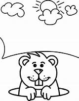 Groundhog Coloring Pages Sheets Print Awesome Wecoloringpage Printable Colouring Children Happy Little Template Sketch Fun Getcolorings sketch template