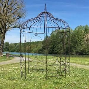 Gloriette En Fer Forgé : grande gloriette tonnelle en fer pergola kiosque de jardin ~ Premium-room.com Idées de Décoration