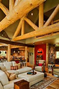 Country Living Room and Kitchen Open Loft