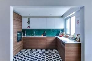 Carreaux De Ciment Hexagonaux : cuisine carreaux ciment 12 photos de cuisines tendance c t maison ~ Melissatoandfro.com Idées de Décoration