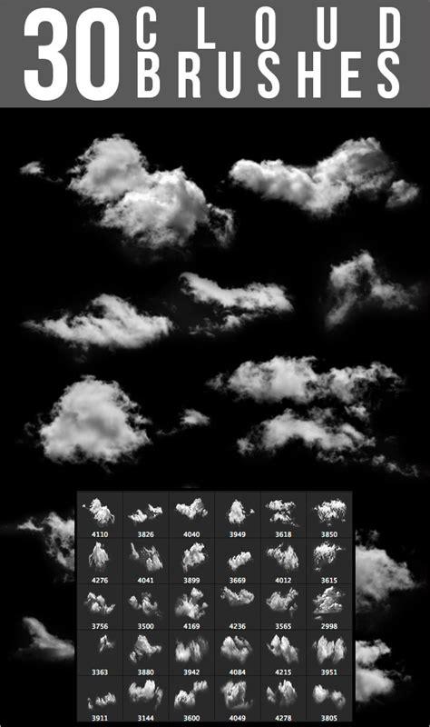 cloud photoshop brushes  abr asl atn format