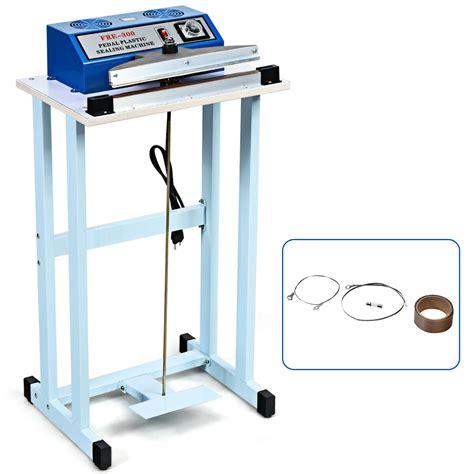 gymax  foot pedal impulse sealer heat seal plastic bag sealing machine  cutter walmart