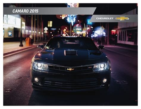 2015 Chevy Camaro Brochure  Omaha Area Chevy Dealer