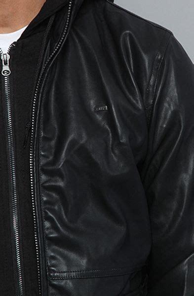 foto de Obey The Rapture Bomber Jacket in Black in Black for Men