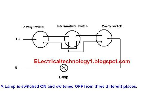 Way Switch Electrical Lighting Wiring Diagram How