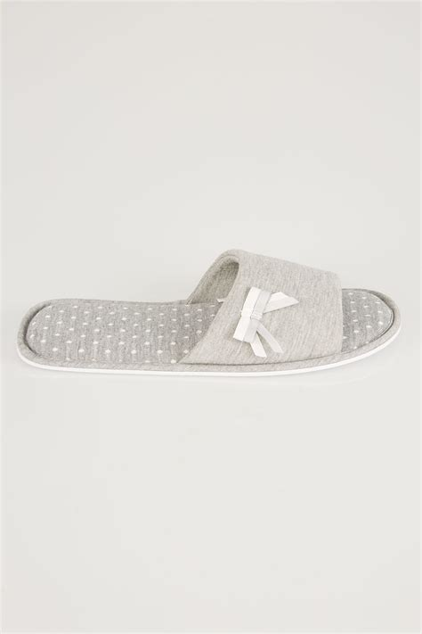 chaussons  pois  noeud gris