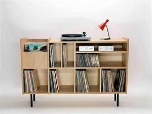 Meuble Pour Vinyle : meuble hi fi vinyle ~ Teatrodelosmanantiales.com Idées de Décoration