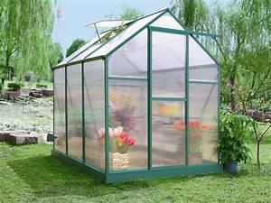 Serre De Jardin Polycarbonate : serre jardin polycarbonate begonia vert sapin 5 3 m 52411 ~ Dailycaller-alerts.com Idées de Décoration