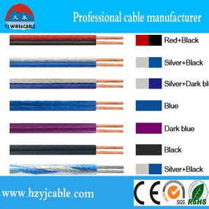 china 1 5mm2 transparent speaker cable red and black