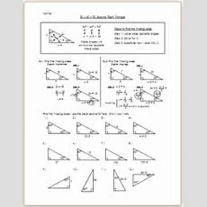 306090 Special Right Triangle  Practicehw By Eric Douce Tpt
