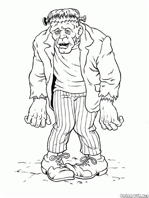 coloring page zombie
