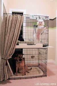 organizing pet supplies dog crate plywood and crates With dog crates for multiple dogs