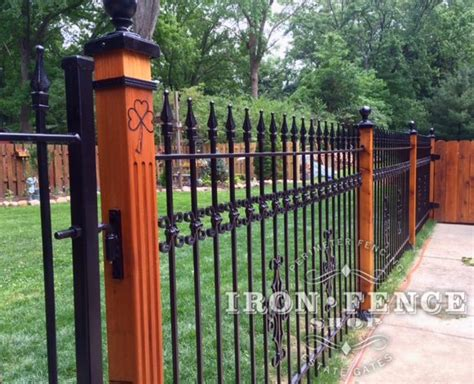 decorative fence post specific fence applications iron fence shop 3119