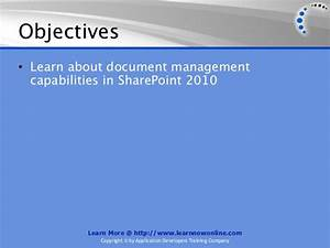 sharepoint document management With sharepoint document management training