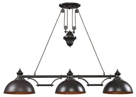 ELK 65151 3 Billiard/Island Transitional Pool Table Lights by Eager House