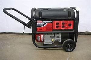 Coleman Powermate 6250 Generator 10 Hp Ohc Briggs  U0026 Stratton    On Wheels Runs And Works