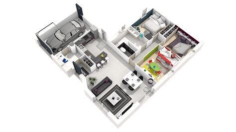 maison 3 chambre plan maison simple 3 chambres evtod