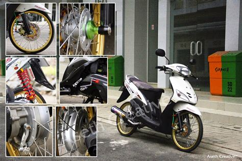 Modifikasi Mio J Merah by Modifikasi Mio J Versi Thailand Thecitycyclist