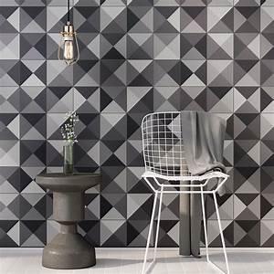 Art Et Carrelage : 24 stickers carrelages azulejos nuances de gris ~ Melissatoandfro.com Idées de Décoration