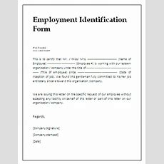 Employment Identification Form  A To Z Free Printable Sample Forms