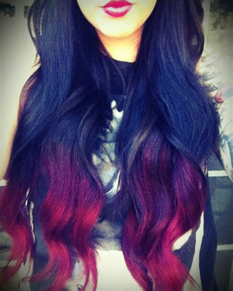 Hows Black To Red For Ombre Hair Amazing Hair