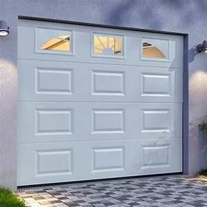 Genial porte de garage sectionnelle jumele avec serrure for Porte de garage enroulable jumelé avec marque serrure