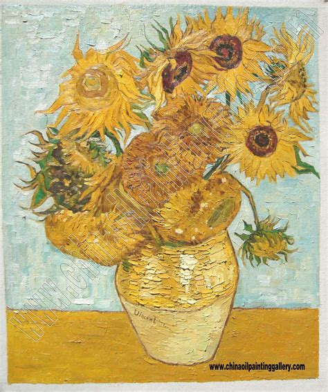 The Sunflowers Van Gogh Oil Painting Reproduction