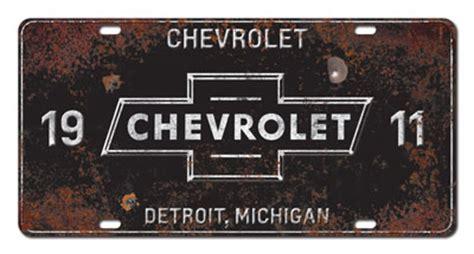 chevrolet vintage license plate chevymall