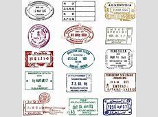 Passport stamps vector free vector download 865 Free