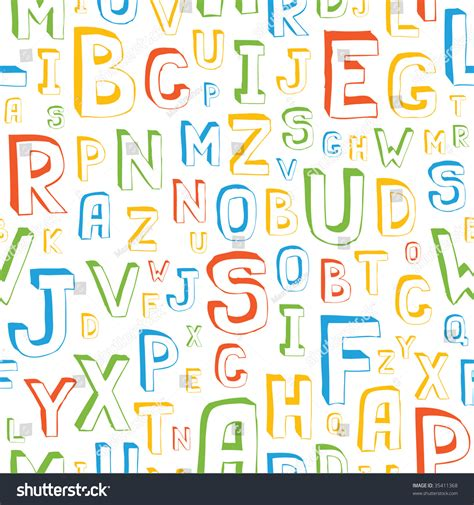 seamless alphabet letters background stock vector