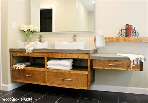 Modern Bathroom Floating Vanities by How To Build A Diy Modern Floating Vanity Or Tv Console