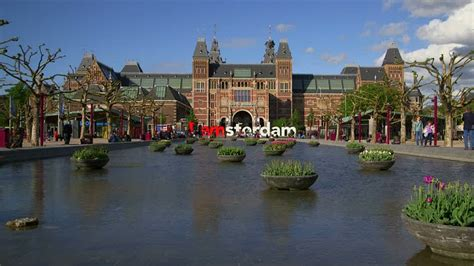 Museum Amsterdam Pool by Amsterdam Rijksmuseum Netherlands Hd Stock Video 922