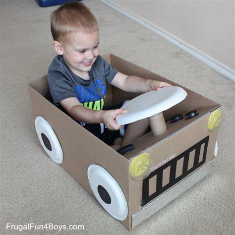 box auto create a cardboard box car