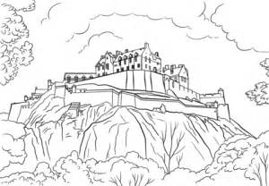 edinburgh castle coloring page  printable coloring pages