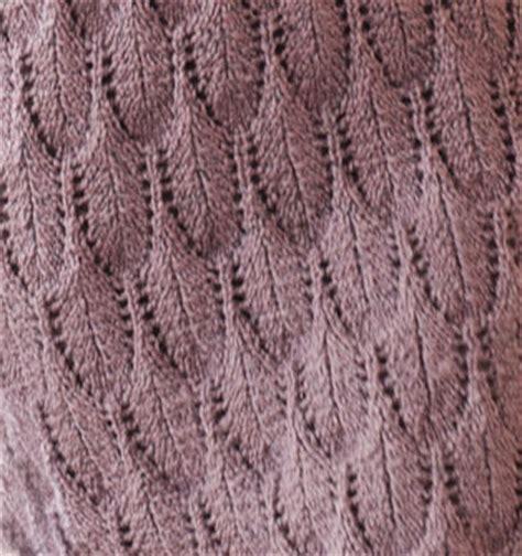 feather lace knit stitch  knitting kingdom