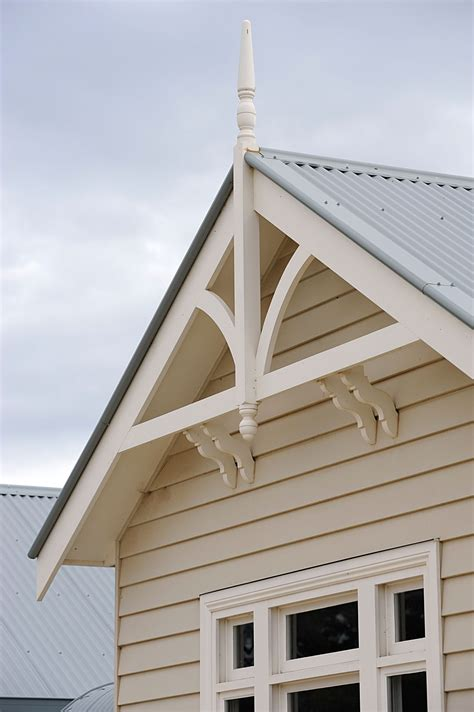 Exterior Decoration by Weatherboard Home Gables Eaves And Gable