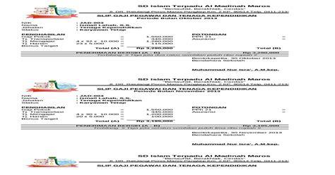 Laporan penghasilan terdiri dari jumlah gaji pokok, tunjangan hingga pajak penghasilan yang harus dibayarkan. Contoh Slip Gaji Karyawan Format Ms Excel