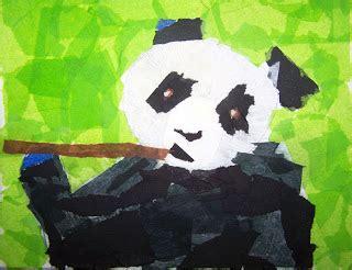 fine arts  kids animal portraits tissue paper collage