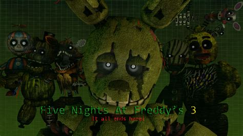 Five Nights At Freddy S Animated Wallpaper - five nights at freddy s 3 wallpaper by lukethecursedguy on