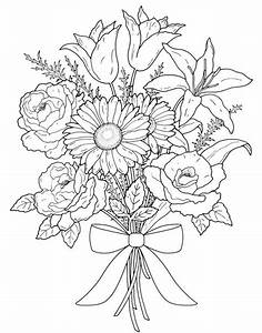 Coloring Pages for Adults Flowers: The Artistic Flowers ...