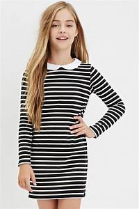 Girls Collared Stripe Shift Dress (Kids) | Forever 21 ...