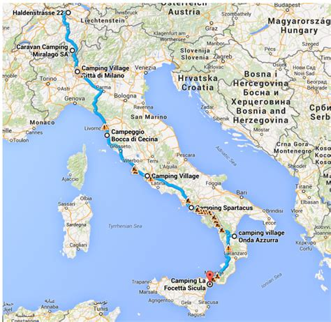 camping karte italien kleve landkarte