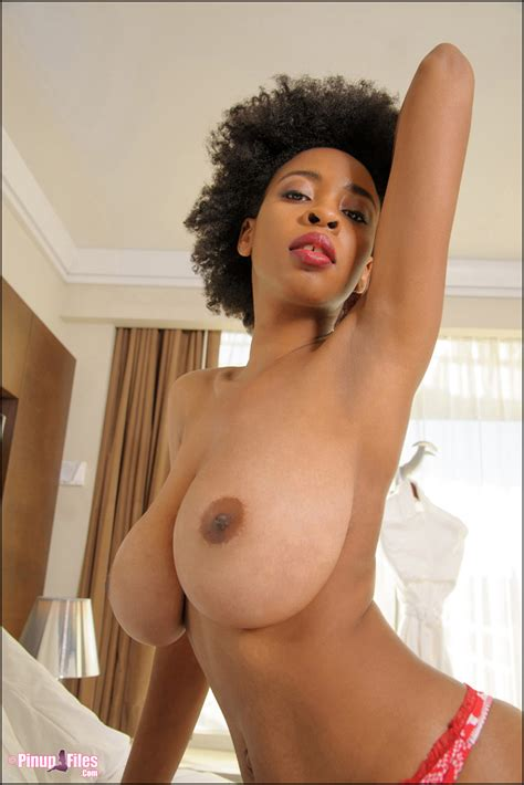 Sexy Ebony Babe With Big Tits Poses In Her Tight Panties