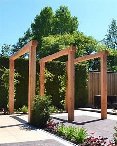 Houten Pergola Van Lariks Douglas Hout In Moderne Tuin