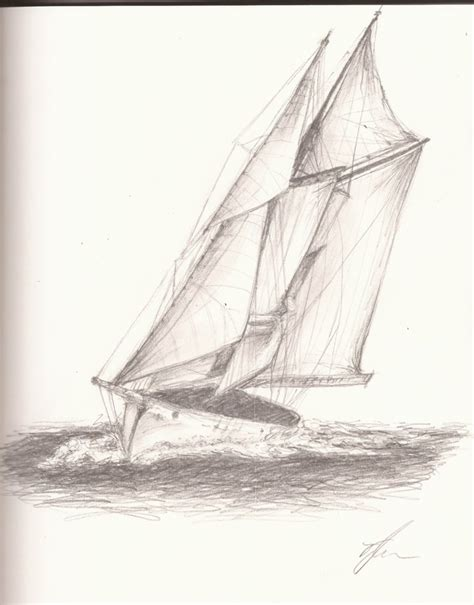 Boat Sketches by Sailboat Sketch By Sonicbornagain On Deviantart