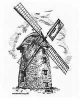 Windmill Dutch Colouring Windmills Drawing Mill Ham Wind Langport Coloring West Plans Tower Somerset Near Stembridge Drawings Paintingvalley England South sketch template
