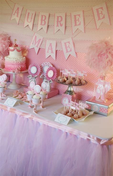 table for baby shower big company the ballerina baby shower