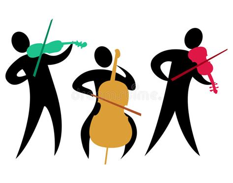 Abstract Classical String Trio/eps Stock Vector