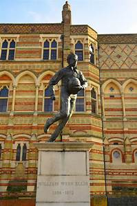 William Webb Ellis Statue Outside Rugby School Ben